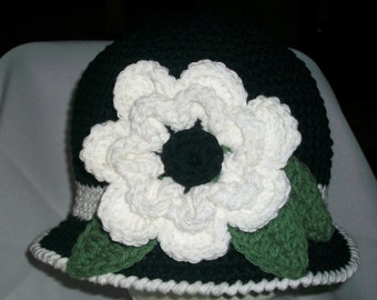 """The """"Nicole"""" Hat Is Stunning in Black and White For The Woman on the Go"""