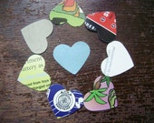 hearts - recycled paper punchouts