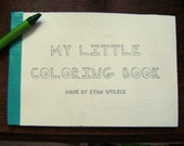 my little coloring book - recycled coloring book