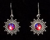 Dragon's Breath Glass Earrings with Sterling Silver Wires