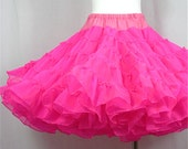 Vintage 50s 60s Pink Flamingo Crinoline, Sz S