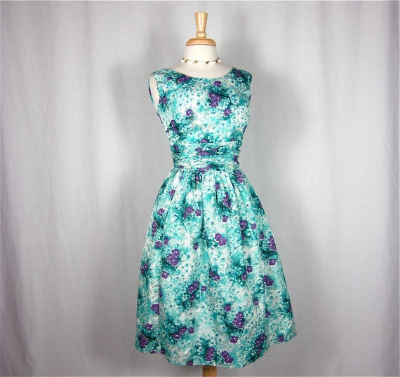 On Layaway for Charlotte            Vintage 50s or 60s Pretty Penny Dress, Sz S