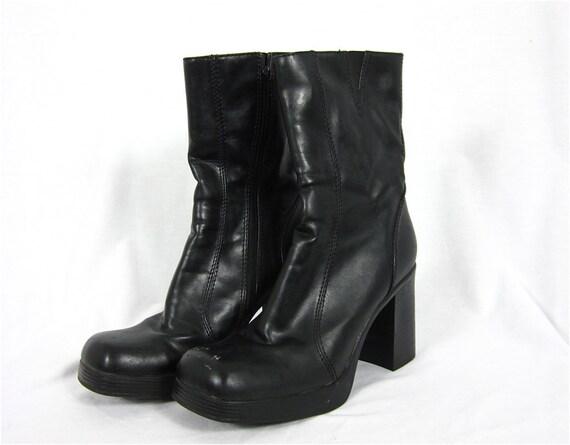 vintage 1970s mens platform boots