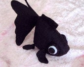 Black Fish Felt Plush