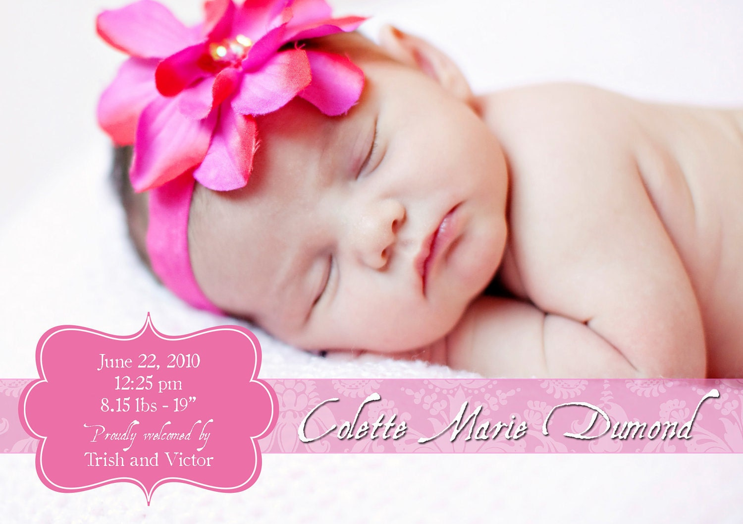 baby girl announcements