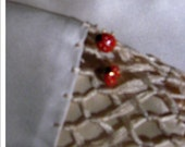 Vintage Painted Enamel Lady Bug Pierced Earrings