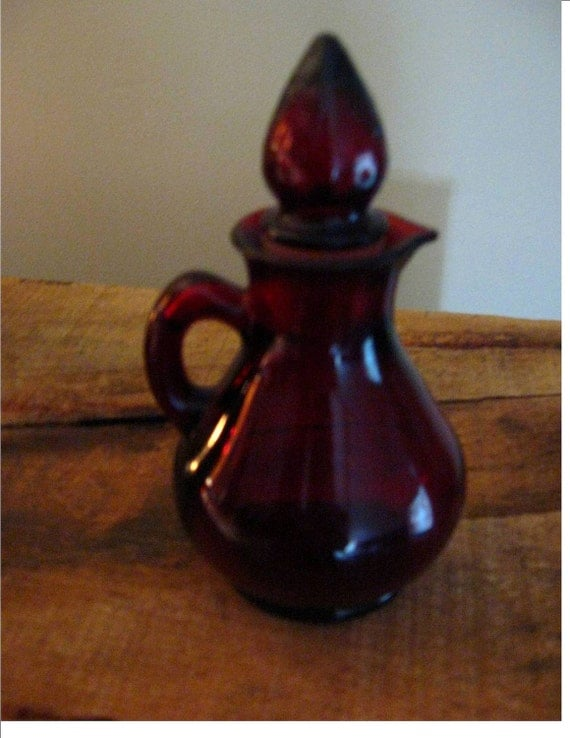 Ruby Red Avon Small Bottle