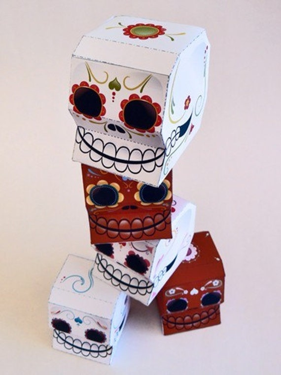 Sugar Skulls Printable Paper Craft Pdf