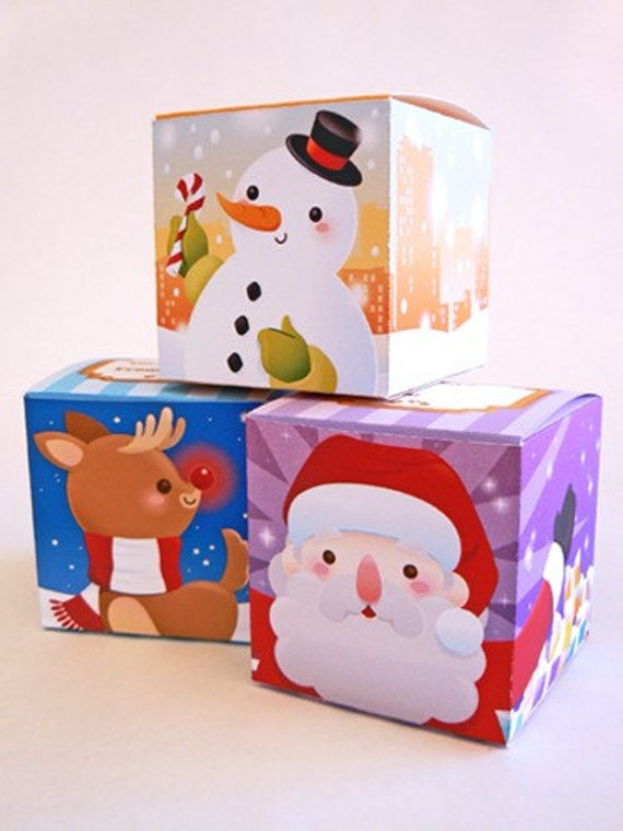 Christmas Gift Box Printable Papercraft PDF