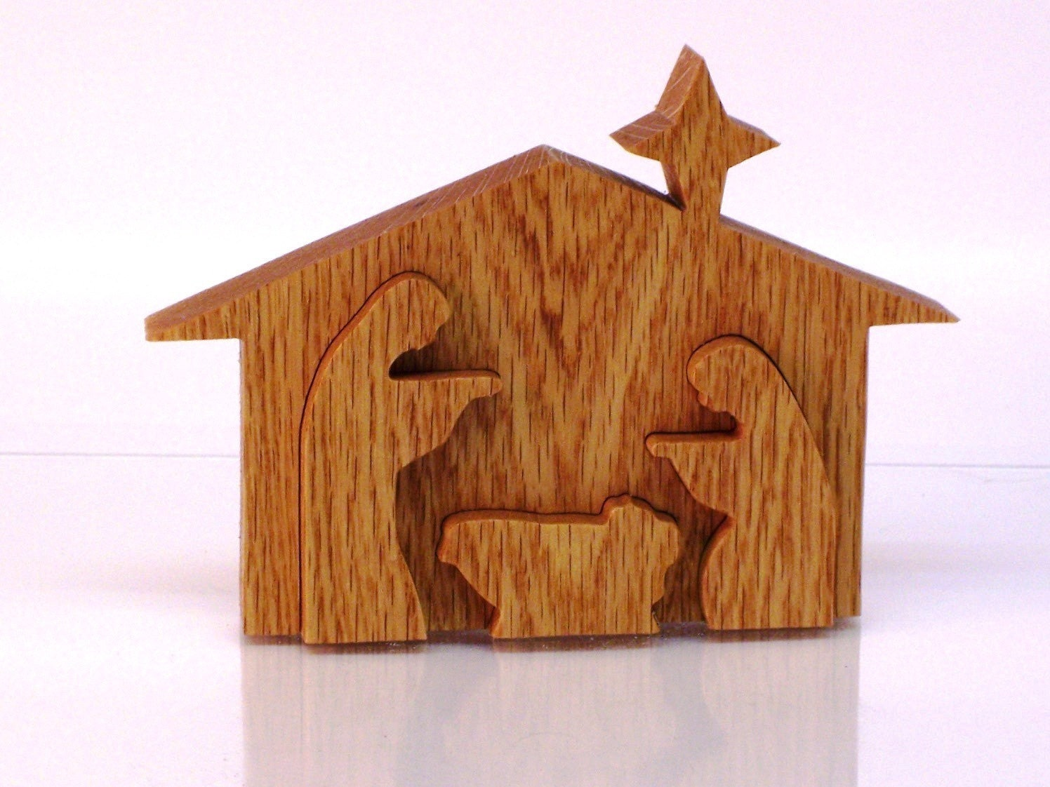 Nativity Sceneornamentoak3d Handmade With Scroll Sawnew