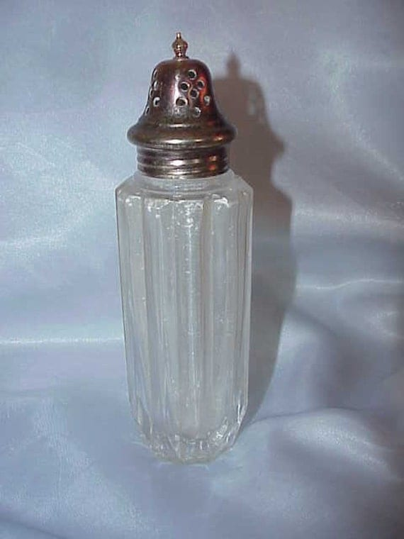 Vintage Powder Shaker Jar  Glass with Silver Cap Youth Dew by Estee Lauder