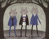 A Pack of Mod Wolves print