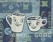 Coffee Couple-Print