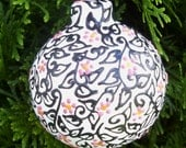 Flowers and Vines Ceramic Christmas Ornament