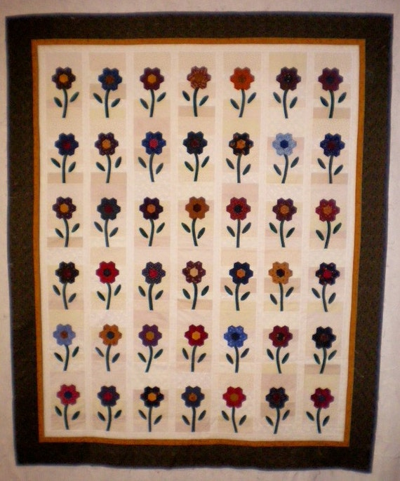 Pretty Flowers Quilt Top