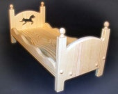 Doll Bed Horse Single Stackable American Girl Doll Bed Scallop Sides or Newborn Posing Bed