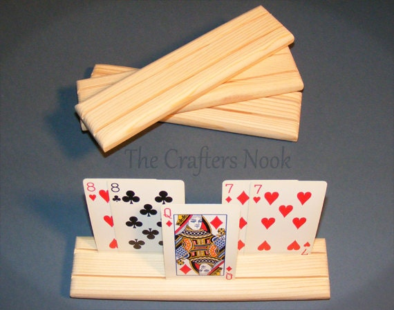 4 Playing Card Holders Rack