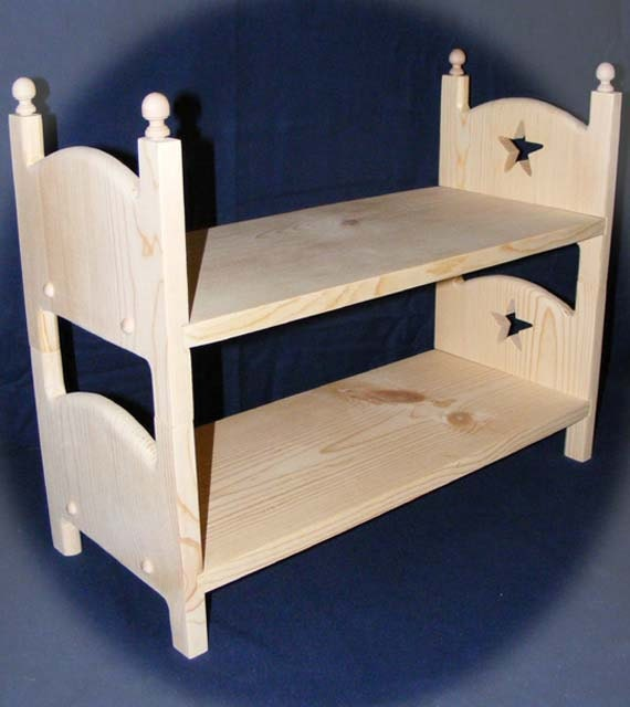 Doll Bunk Bed STAR Doll Beds Stackable American by