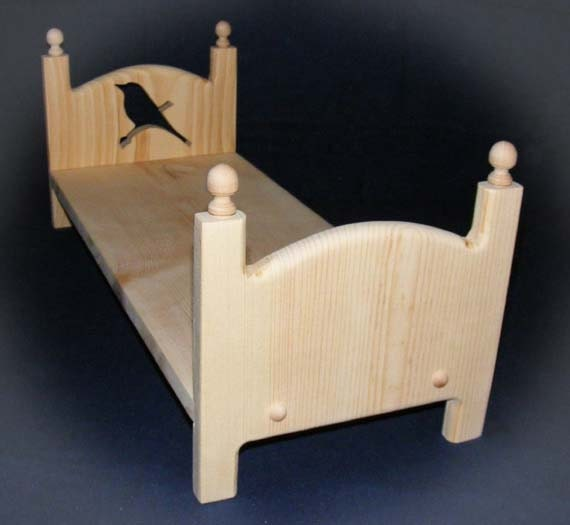 Handmade Wooden Stackable Single BIRD Doll Bed 18 inch American Girl Doll Furniture