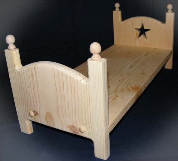 Items similar to stackable wooden doll bed 18 inch american girl doll furniture diy ready to Dolls wooden furniture