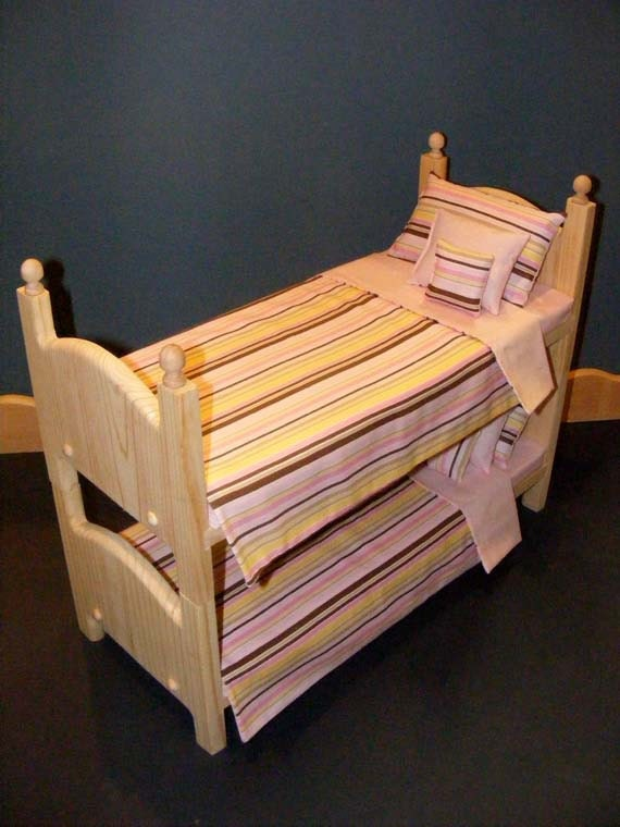Stackable Wooden Doll Bunk Bed 10pc Reversible By