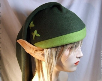 Legend of Zelda - Link cosplay cap in Kokiri green ( forest/apple ) - hats by orgXIIIorg