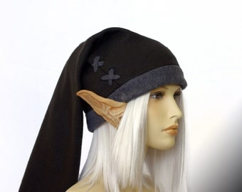 Legend of Zelda - DARK Link cosplay cap ( black/grey ) - fleece fabric hats by orgXIIIorg
