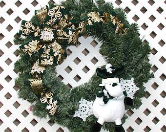 Stuffed Reindeer Wreath - Christmas Wreath - Holiday Wreath - Reindeer Wreath - Christmas Door Wreath - Holiday Decor - Front Door Wreath