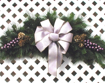 Purple and Gold Christmas Swag - Christmas Wreath - Holiday Door Swag - Christmas Swag - Purple Christmas Wreath - Christmas Door Wreath