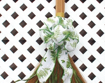 Decorative Broom - Spring Wreath - Summer Wreath - Door Hanging - Floral Wreath - Straw Broom - Green Wreath - Door Wreath - Door Broom