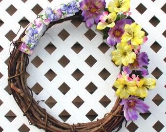 Floral Spring Wreath - Spring Wreath - Summer Wreath - Door Wreath - Floral Door Wreath - Floral Spring Wreath - Front Door Wreath - Wreath