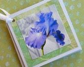 Purple Iris Gift Tags - Set of 4
