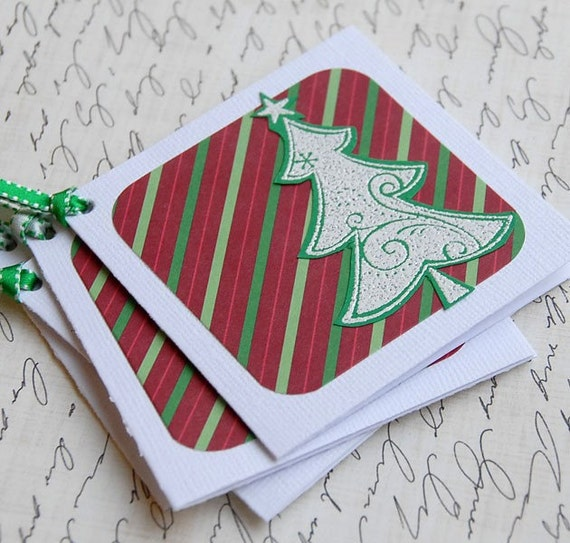 White Tree Gift Tags - Set of 4 - SALE