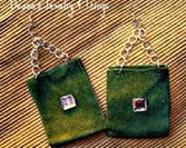 SALE Green Suede and Bling