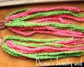 CLEARANCE SALE Hot Pink and Lime Green Crochet Dangles