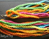 Burst of Orange Long Crochet Dangles
