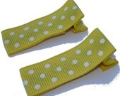 Yellow and White Swiss Dot Clippies