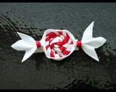 SALE - Wrapped Christmas Candy Hair Clip \/ Bow