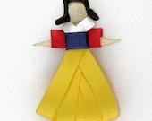 Snow White Hair Clip \/ Bow