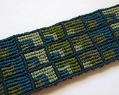 RESERVED for bookwright - Sage & Teal Cuff