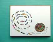 Snail Trails and Tails greeting card
