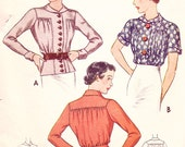 30s Button Blouse - fabric and measurements customized to you