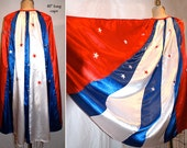 "Med. 40"" L x 60"" W Awesome Satin Cape for your Super Hero / Wonder Woman or WW Nemisis Costume..."