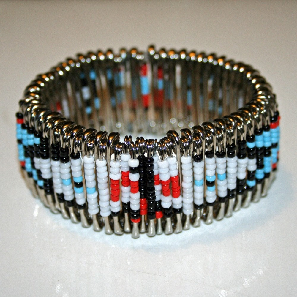 Thunderbird safety pin bracelet by mysticlily on etsy