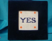 YES Framed Counted Cross Stitch