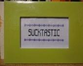 Sucktastic Framed Cross Stitch