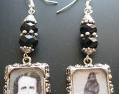 Poe Jewelry, Poe Earrings, Author Earrings, Author Jewelry, Literary Earrings, Literary Jewelry, Gothic Raven Crow Horror Mystery Macabre