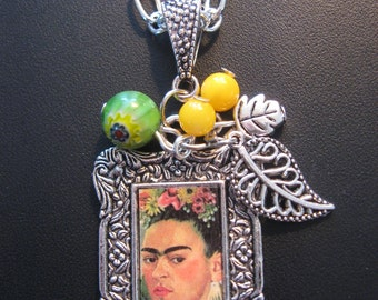 Frida Kahlo Jewelry - Frida Kahlo Neckace - Leaves Jewelry