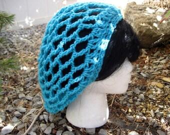 Mesh spring summer crochet hat