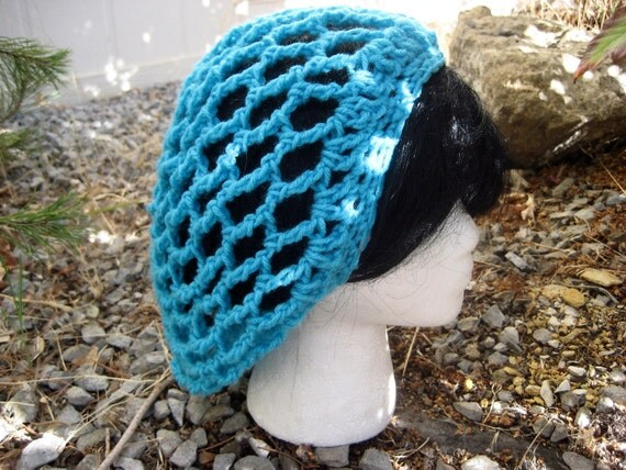 Mesh spring summer crochet hat